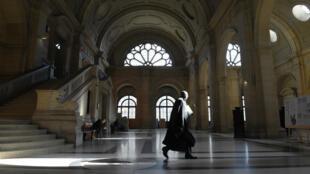Un couloir du Palais de Justice de Paris.