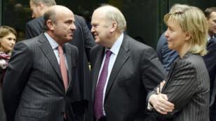 Les ministres des Finances d'Irlande, d'Espagne et du Portugal.
