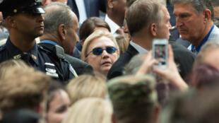 هيلاري كلينتون في إحياء ذكرى اعتداء سبتمر