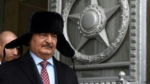Field Marshal Khalifa Haftar on a November 2016 visit to Moscow
