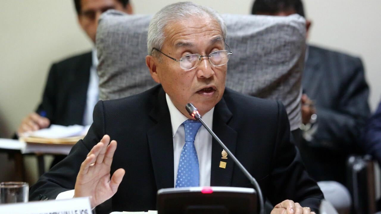 Fotografía de archivo del 26 de agosto de 2018, que muestra al fiscal general de Perú, Pedro Chavarry, en Lima, Perú.