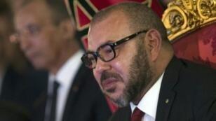 العاهل المغربي الملك محمد السادس في طنجة في 27 أيلول/سبتمبر 2016