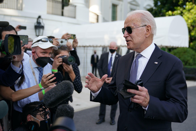 Joe Biden at the White House in Washington on July 30, 2021