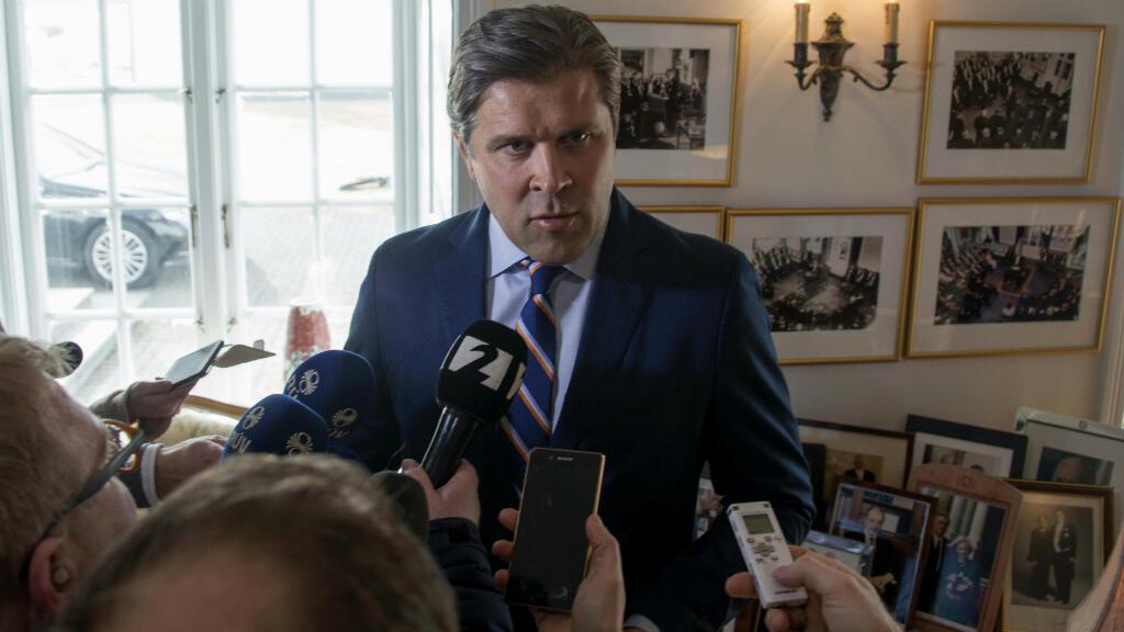 Bjarni Benediktsson, actuel ministre islandais des Finances et président du Parti de l'indépendance, qui devrait être appelé à former un gouvernement.