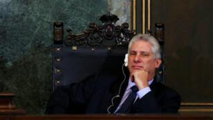 Miguel Díaz-Canel, actual primer vicepresidente de Cuba, se perfila para ser el sucesor de Raúl Castro. MArzo 29 de 2018.