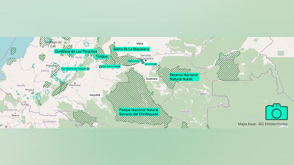 Mapa del recorrido de Federico Ríos.