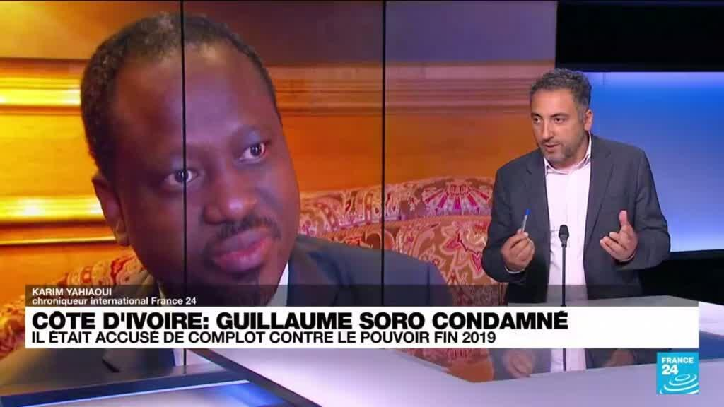 """2021-06-23 17:02 Côte d'Ivoire : Guillaume Soro condamné à perpétuité pour """"atteinte à la sureté de l'État"""""""