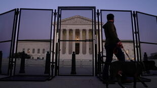 The U.S. Supreme Court is seen behind security fencing in Washington, US, January 12, 2021.