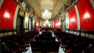 Vista general de la Sala Penal del Tribunal Supremo en la que tendrá lugar el juicio, que comenzará el 12 de febrero.