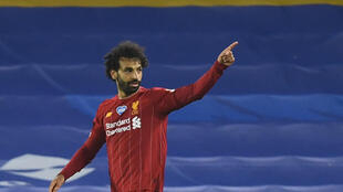 Mohamed Salah scored twice in Liverpool's 3-1 win at Brighton