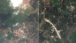 La région de Cox's Bazar au Bangladesh