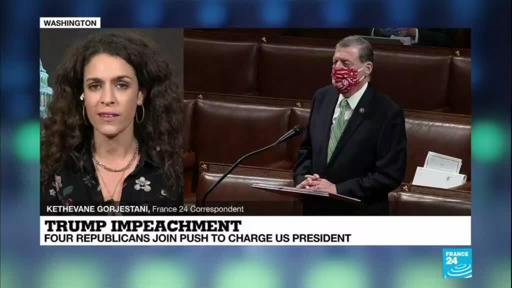 2021-01-13 09:01 Trump impeachment: Four Republicans join push to charge US President