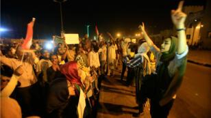 Des manifestants à Khartoum, le 16 mai 2019.