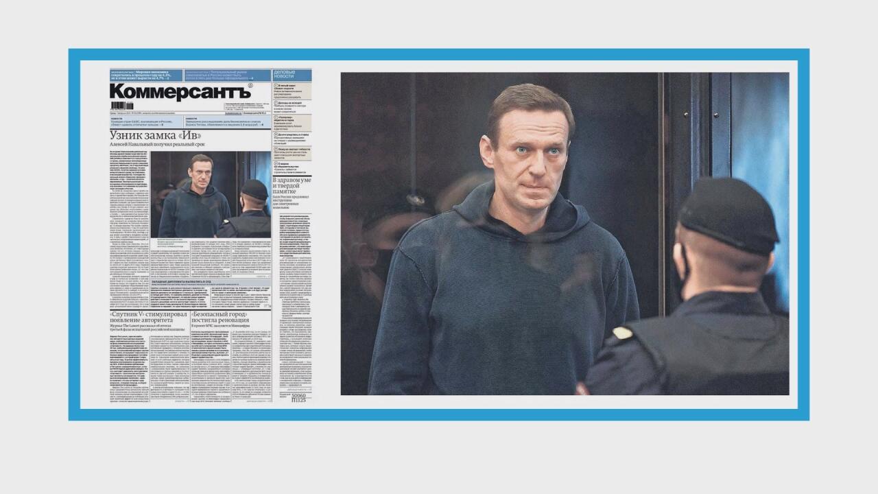 Condamnation d'Alexeï Navalny à trois ans et demi de prison