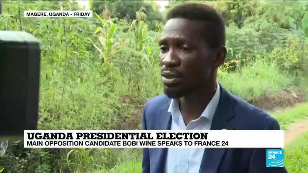 2021-01-18 14:01 Uganda presidential election: Main opposition candidate Bobi Wine speaks to France 24