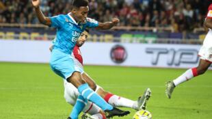 Le jeune attaquant de l'Olympique de Marseille lors d'un match de Coupe de France à Monaco, le 30 octobre 2019