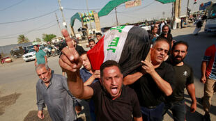 IRAQ PROTESTS DEAD BODY GOVERNMENT NAJAF