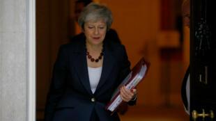 La primera ministra británica se sometió a una serie de preguntas referente al borrador del acuerdo sobre el brexit en la Cámara de los Comunes el 14 de noviembre de 2018.