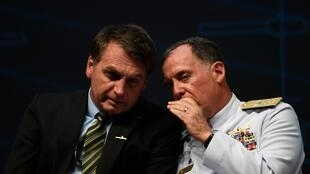 Bolsonaro with navy chief