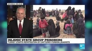 2019-11-11 18:15 Marc Pierini: Foreign Jihadists deprived of their citizenship adds a complication for Turkey