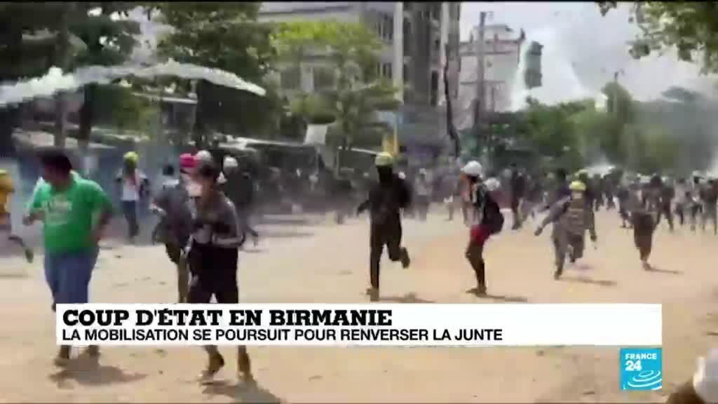 2021-03-19 13:05 Birmanie : exode des habitants de Rangoun qui fuient la répression en Birmanie