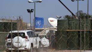 مركز للأمم المتحدة في بير لحلو في الصحراء الغربية.