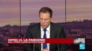 2020-03-12 18:04 COVID-19, la pandémie : le bourses en forte baisse