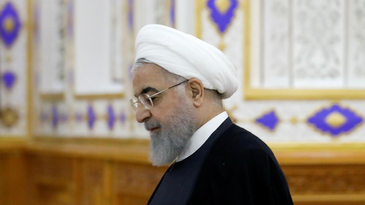 El presidente iraní Hassan Rohani participa en la Conferencia de Construcción de Medidas para la Interacción y la Confianza en Dusambé, Tayikistán, el 15 de junio de 2019.