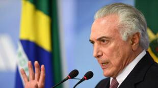 Le président brésilien Michel Temer, mardi 11 juillet 2017, à Brasilia.