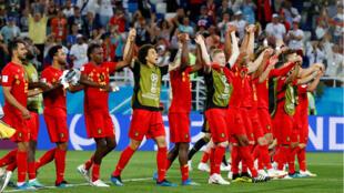 Bélgica celebra su triunfo frente a Inglaterra