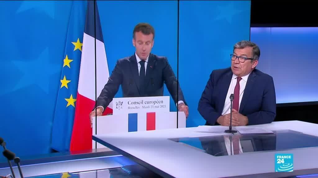 """2021-05-25 17:11 Crise politique au Mali : E.Macron condamne un """"coup d'État dans un coup d'État"""
