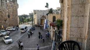 The Jaffa Gate from the balcony of the New Imperial Hotel in the Old City of Jerusalem; Israel's supreme court on Monday gave final approval to the purchase of the hotel and two other properties by Ateret Cohanim