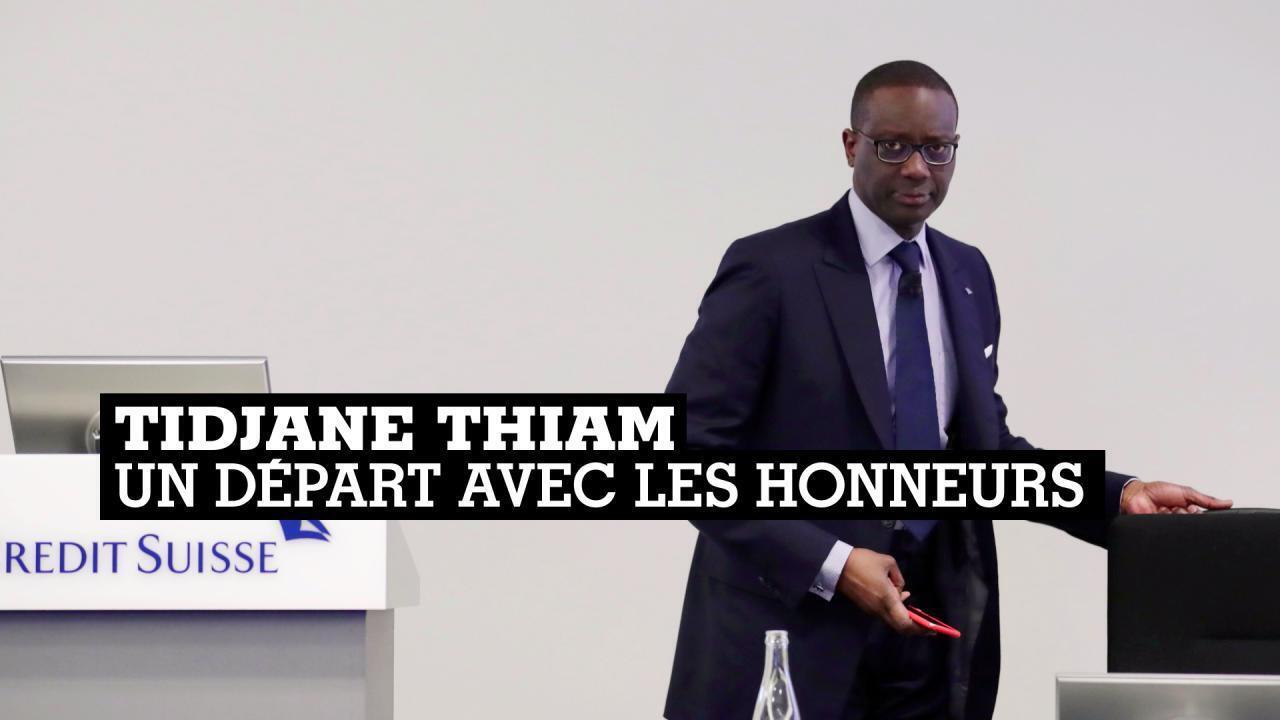 Tidjane Thiam a présenté jeudi des résultats record, à la veille de son départ du Crédit Suisse