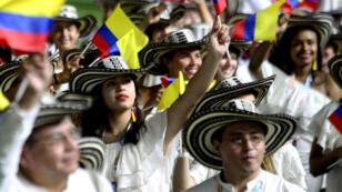 La delegación colombiana desfila durante la inauguración de los Juegos Bolivarianos. 11/11/2017