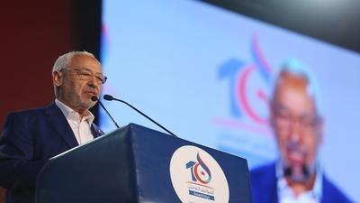 """رئيس حزب """"النهضة"""" راشد الغنوشي يترشح لانتخابات رسمية للمرة الأولى في حياته."""