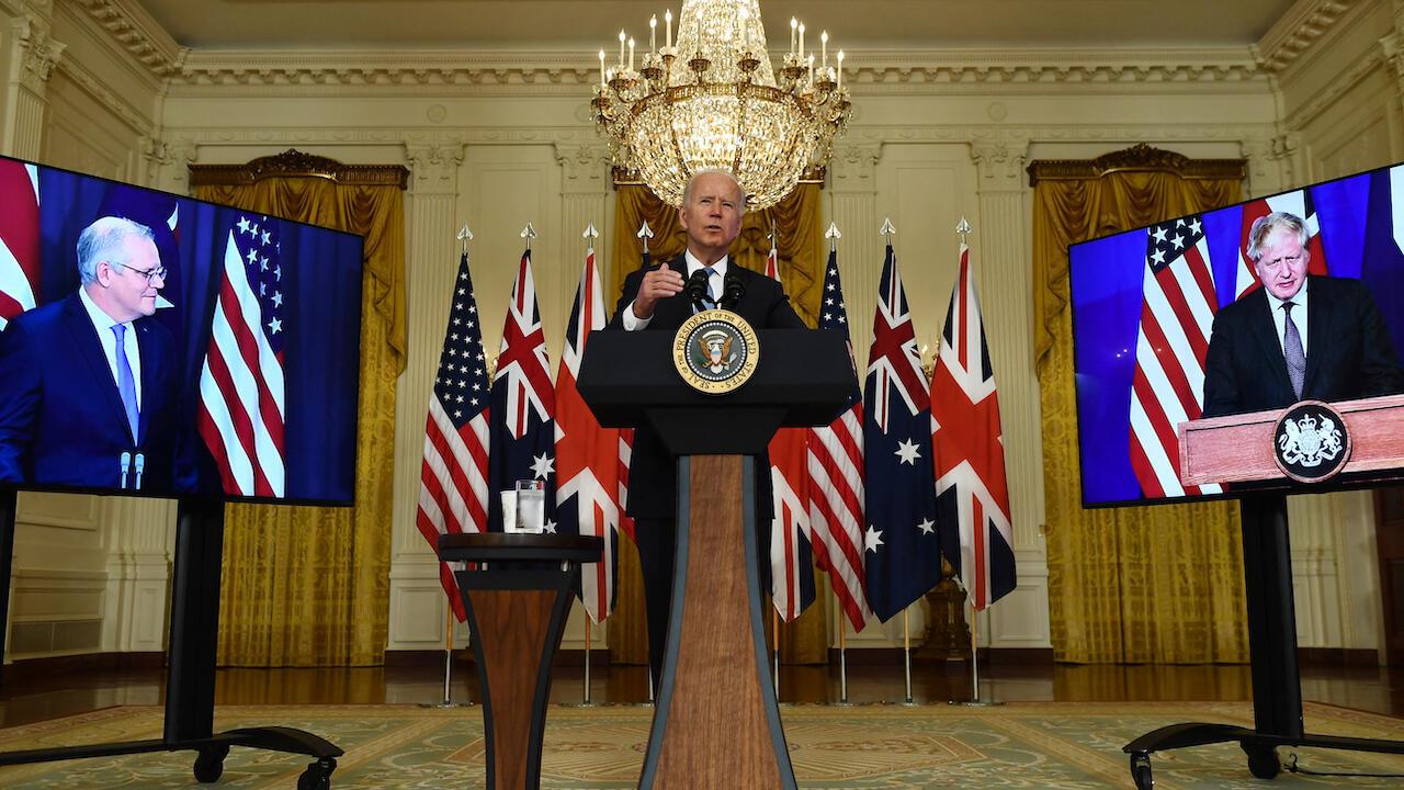 US - UK - Australia security partnership Biden 000_9MX3X2