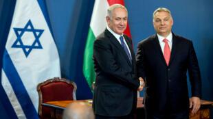Le premier ministre hongrois Viktor Orban doit rencontrer son homologue israélien Benjamin Netanyahou. en juillet 2017, à Budapest.