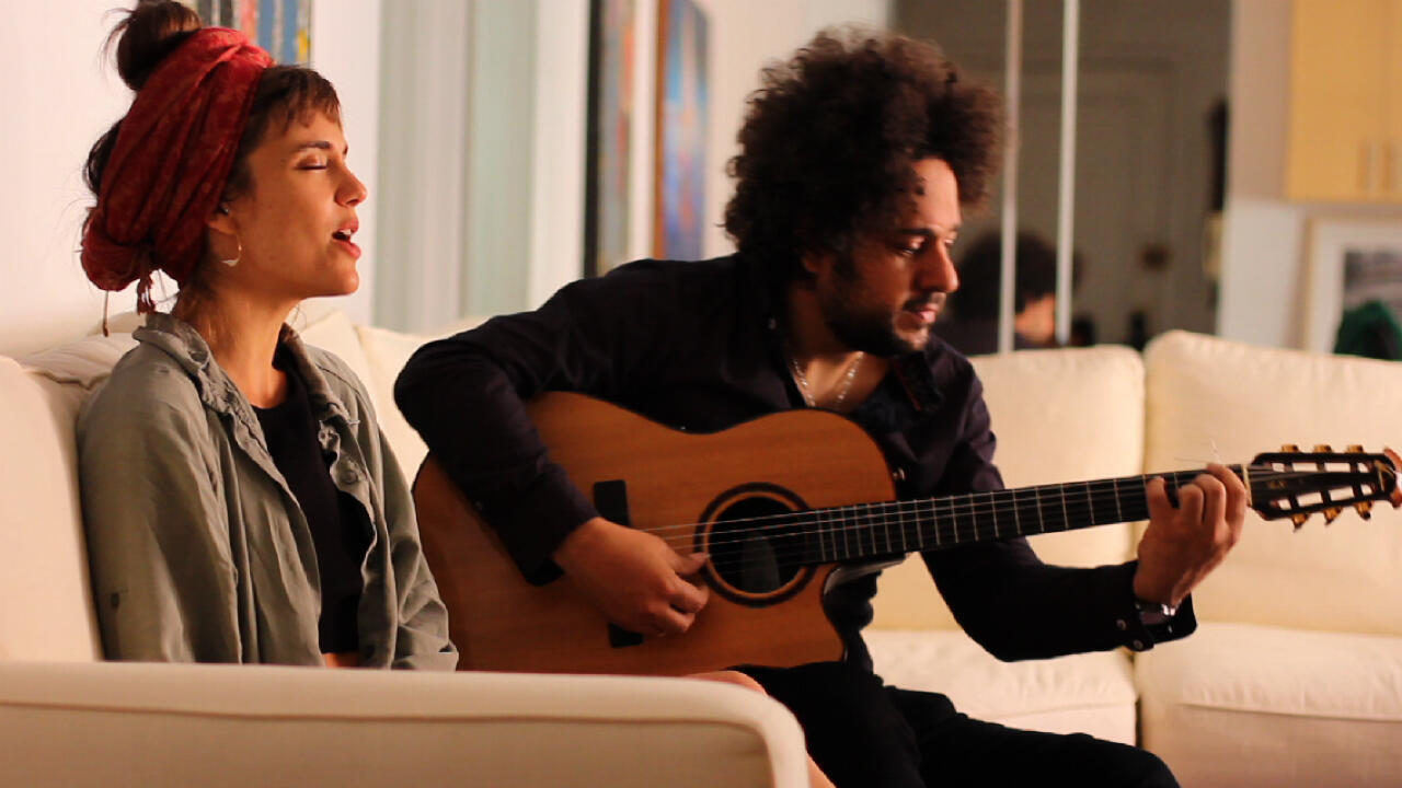 French jazz musician Camille Bertault and Brazilian guitarist Diego Figueiredo