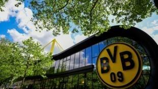 L'entrée du stade Signal Iduna Park, le 14 mai 2020 à Dortmund, en Allemagne
