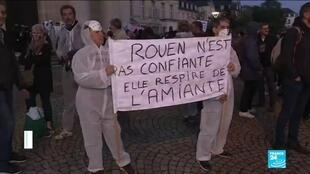 2019-10-09 11:14 Rouen residents demand more tests over health risks after chemical plant fire