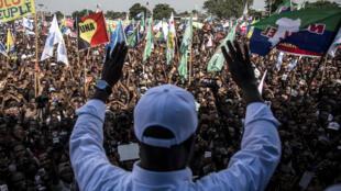 Candidat d'opposition à l'élection présidentielle congolaise, Martin Fayulu a réuni ses partisans le 2 février 2019 à Kinshasa.