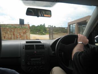 """Un des trois checkpoints de l'hotel """"World of Pezula"""""""