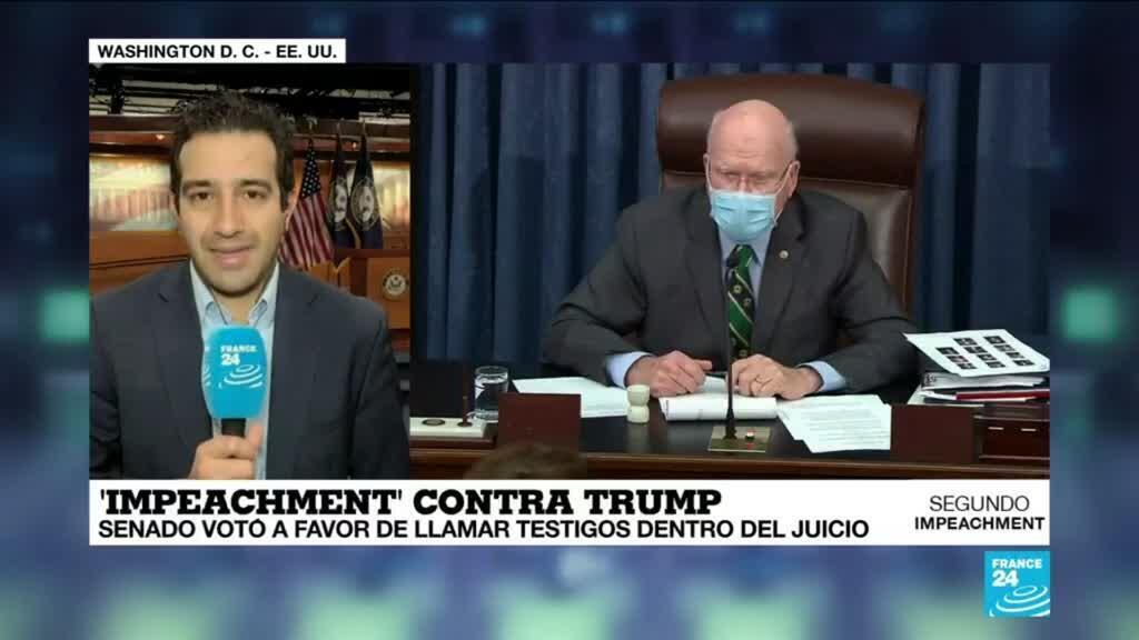2021-02-13 18:03 Informe desde Washington: Senado votó a favor de llamar testigos en juicio político contra Trump