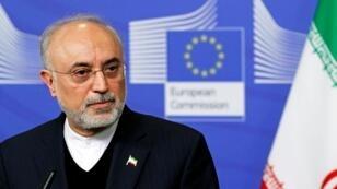 رئيس منظمة الطاقة الذرية الإيرانية علي أكبر صالحي في بروكسل، 26 نوفمبر/تشرين الثاني 2018.