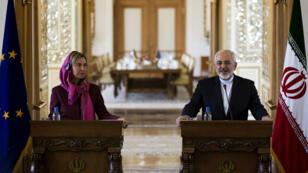 وزيرة خارجية الاتحاد الأوروبي ووزير الخارجية الإيراني
