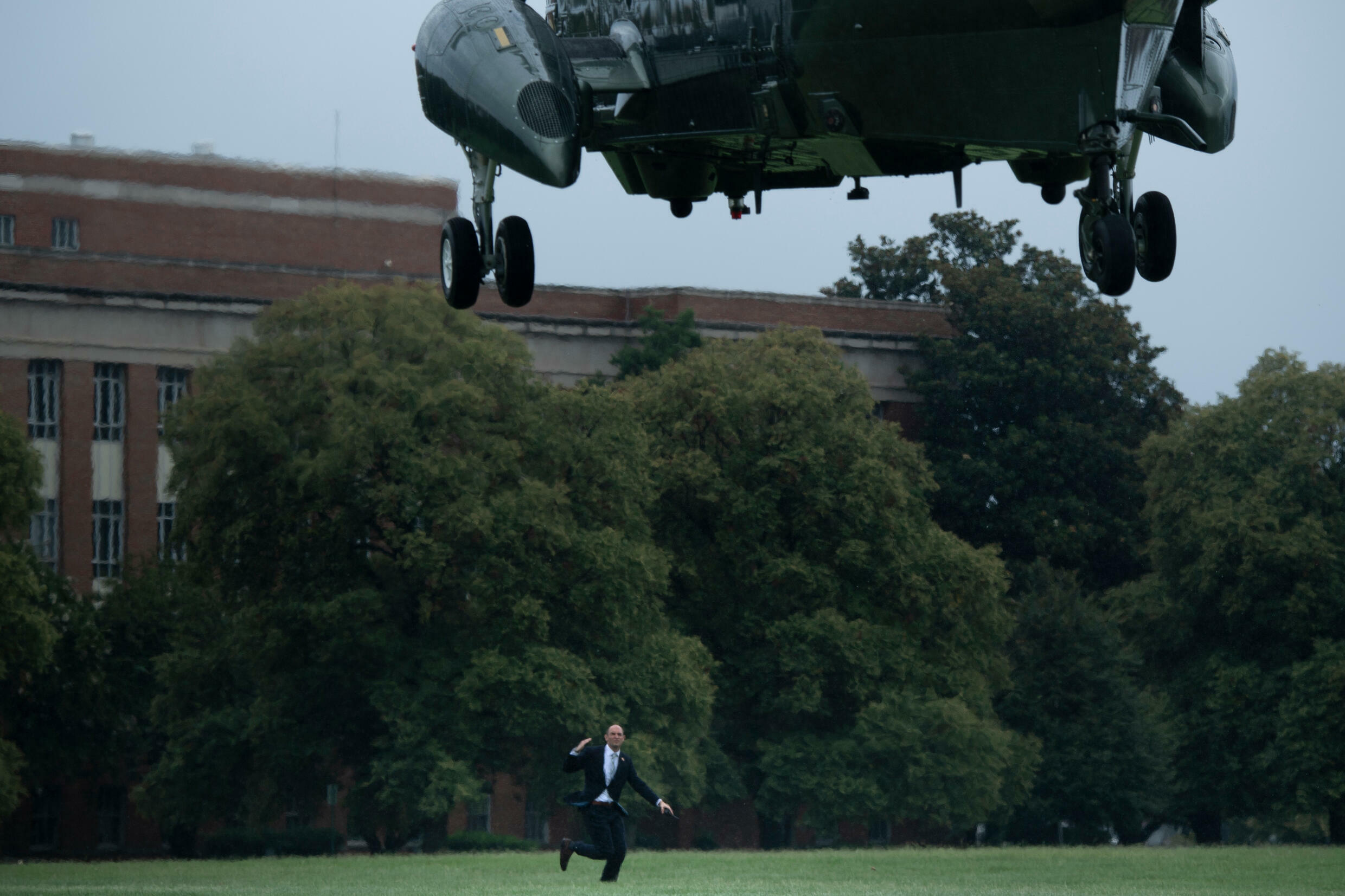 Marine One lifts off with President Joe Biden, who is keen to extricate the US  from foreign conflicts