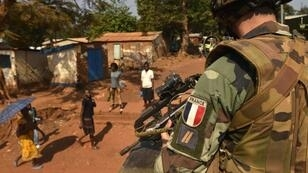 Miguel Medina, AFP | A French soldier on patrol in the Central African Republic