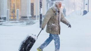 Temperaturas extremas podrían congelar a una persona en minutos. Nueva York, 30 de enero.