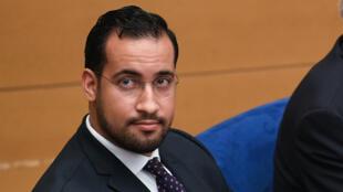 Alexandre Benalla lors de sa dernière audition devant la Commission d'enquête du Sénat, le 21 janvier 2019