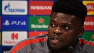 Partey time: Thomas Partey moved from Atletico Madrid to Arsenal on Monday